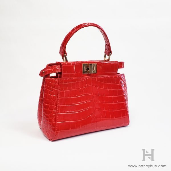 Nancy Hue - Gander Mini Bag - Exotic Red - Angled View