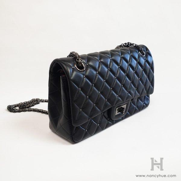 Nancy-Hue-Matlasse-Bag-Studded-Black-Side
