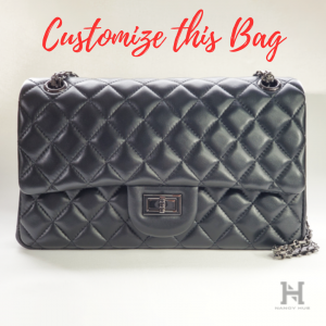 Custom Quilted Lambskin Leather Flap Bag