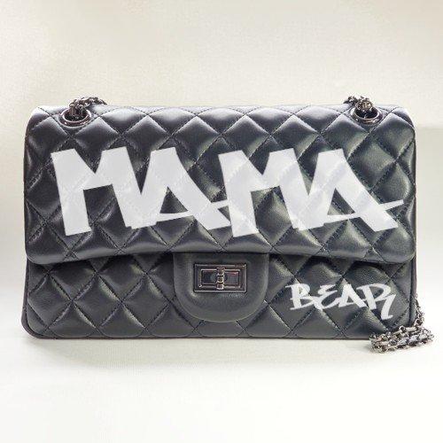 mama bear graffiti bag - graffiti - personalized leather classic flap bag