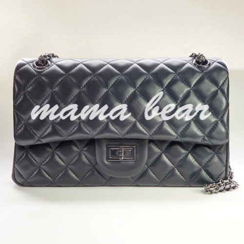 mama bear leather purse - personalized leather classic flap bag