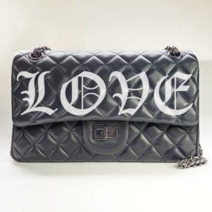 LOVE Nancy Hue Lambskin leather Flap Bag
