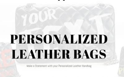 Now offering personalized leather flap bags – design online in minutes!