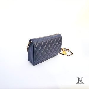 Matelassé Clutch with Chain Strap