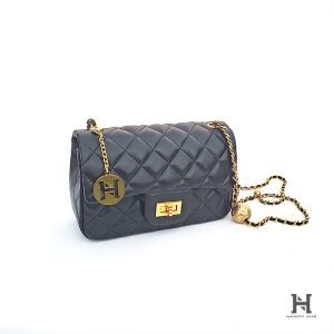 Mini Matelassé Flap Bag – Black