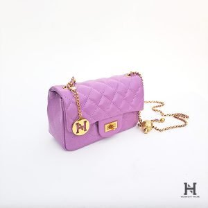 Mini Matelassé Flap Bag – Lavender