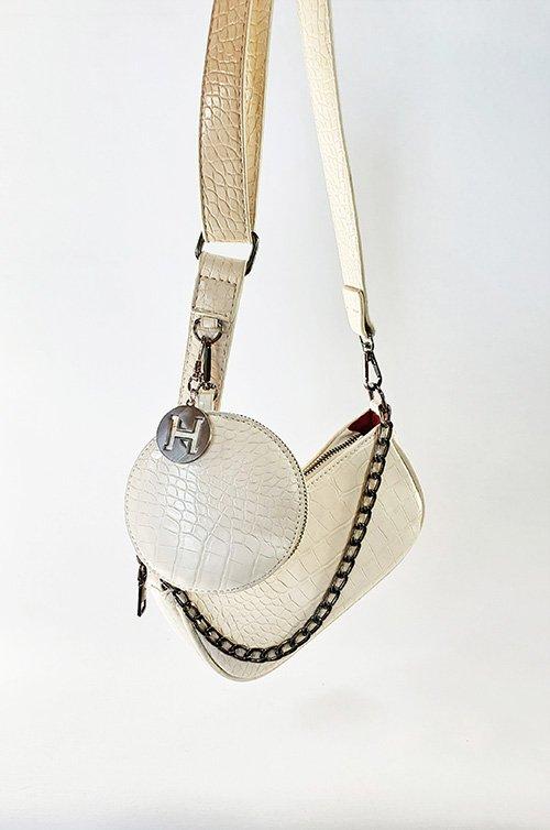 white croc vegan bag crossbody accessories