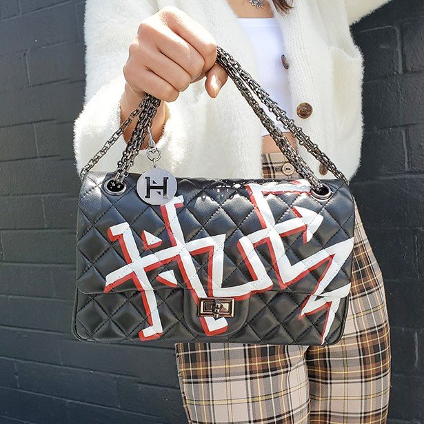 Handpainted Statement Handbags and Outfit Style Ideas